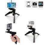Folding Mini Tripod Hand Held Pistol Grip for Gopro, DSLR, Camera-0