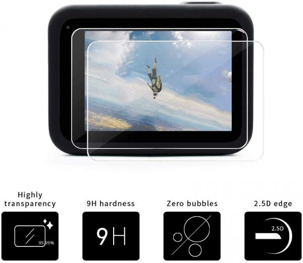 6 Pack GoPro Hero 8 Tempered Glass 9H Lcd Screen and Lens Protector-2714
